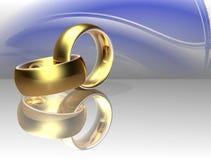 pierścionek dwa poślubia Zdjęcia Stock