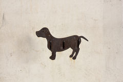 Pierścionek na ścianie dla wiązać psiego prowadzenie Hiszpania obrazy stock
