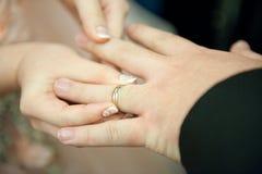 Pierścionek na ręce Fotografia Royalty Free