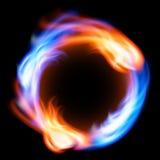 Pierścionek ogień w czarnym tle ilustracja wektor
