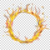 Pierścionek ogienia płomień z dymem royalty ilustracja