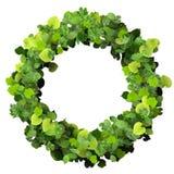 Pierścionek robić od zielonych liści Obrazy Royalty Free