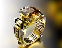 Pierścionek z diamentem Mody biżuterii tło obraz royalty free