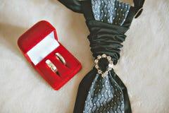 Pierścionek zaręczynowy przy ślubem Obrazy Royalty Free