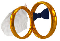 pierścionków target1375_1_ Obrazy Royalty Free