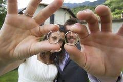 pierścionków target373_1_ Zdjęcia Royalty Free