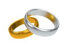 pierścionków target993_1_ Obraz Royalty Free