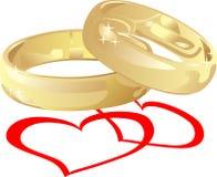 pierścionków target998_1_ Fotografia Royalty Free