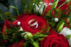 Pierścionki na różach Fotografia Royalty Free