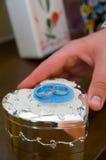 pierścionki osrebrzają ślub Obraz Stock