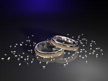pierścionki target2481_1_ dwa Obraz Royalty Free
