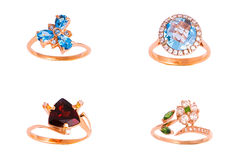 pierścionki ustawiający Obraz Royalty Free