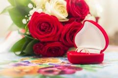 Pierścionki zaręczynowi Zdjęcie Stock