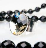 pierścionku duży srebro Zdjęcie Royalty Free
