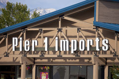 Pier 1 Imports Sign Stock Photo