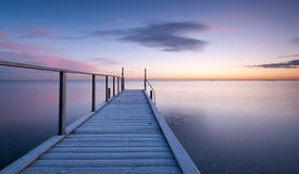 Pier. Just before sunrise on a winter day Royalty Free Stock Photos