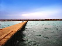 Pier. Wood pier - Red Sea in Egypt Stock Images