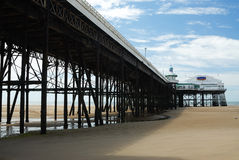 The Pier. With the tide out Royalty Free Stock Photo