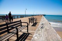 Pier. Ventura historic pier, South California Stock Photos