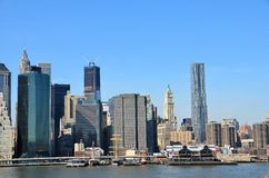 Pier 17 and Skyscrapers Royalty Free Stock Image