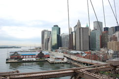 Pier 17, South Street Seaport in New York City Stock Images