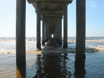 Pier. Under pier stock image