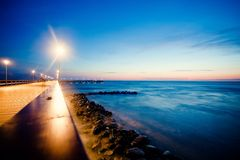 Pier. In Palanga on Baltic sea Stock Photography