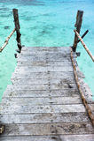 Pier. Over crystal clear water Stock Photos