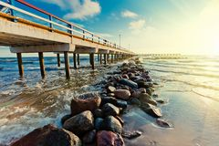 Pier. In Palanga on Baltic sea Royalty Free Stock Photo