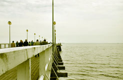 Pier. Vintage look stock photography