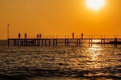 Pier. At the sea in Turkiye Royalty Free Stock Photo