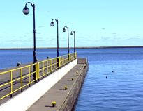 Pier. On the Balltic sea Stock Photography
