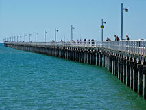 The Pier. Is a well known landmark in Hervey Bay, Queensland, Australia.  It was used as the main port of Queensland untill the ships became to large to use the Stock Images