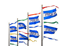 Pier 39 flags Stock Images