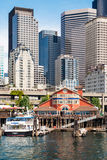Pier 55 at Central Waterfront in Seattle, WA Stock Photography