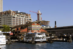 Pier 55 in Seattle Stockfoto