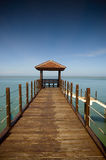 Pier. At Kerachut Beach, Penang Royalty Free Stock Image