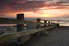 Pier. A pier at sunset on the Morecambe Bay Royalty Free Stock Photo