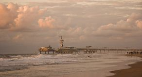 Pier. A view at the pier when walking along the beach Stock Photography