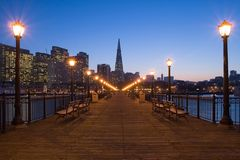 Pier 7 in San Francisco Royalty Free Stock Photos