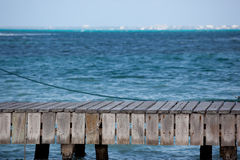 Pier by blue ocean Stock Photo