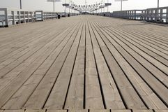 Pier. Wooden pier in sopot poland stock image