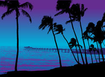 The pier. Gradiented vector illustration Royalty Free Stock Photography