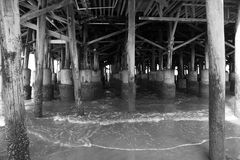 Pier. Underneath the pier Royalty Free Stock Photo