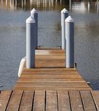 Pier. In harbor Royalty Free Stock Images