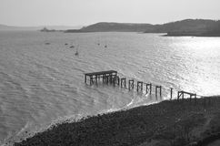 Pier at Aberdour Royalty Free Stock Photography