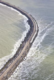 Pier from above in sea at IJmuiden Royalty Free Stock Photo