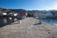 A pier at the adriatic coast of Croatia royalty free stock image