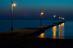 The Pier Against Dark Sea Royalty Free Stock Image