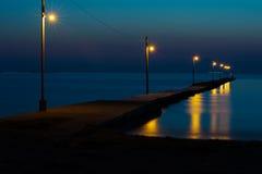 Pier Against Dark Sea Imagen de archivo libre de regalías